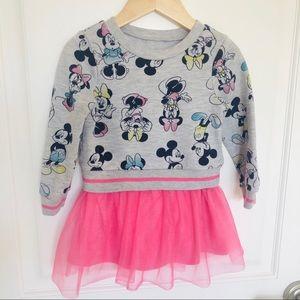 Disney Minnie Sweatshirt Dress with tulle